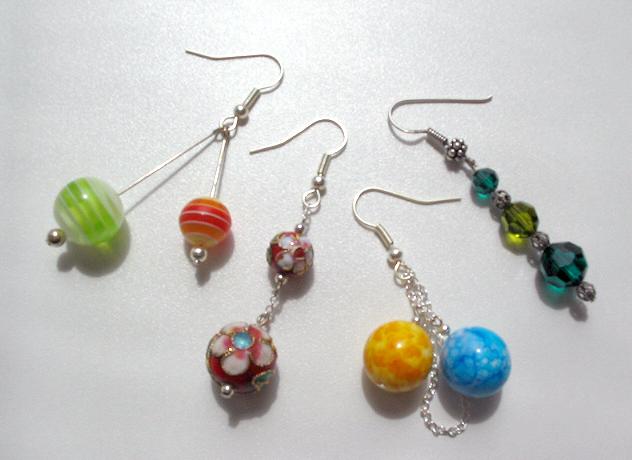 Ohrringe, Design, Schmuck, Perlen
