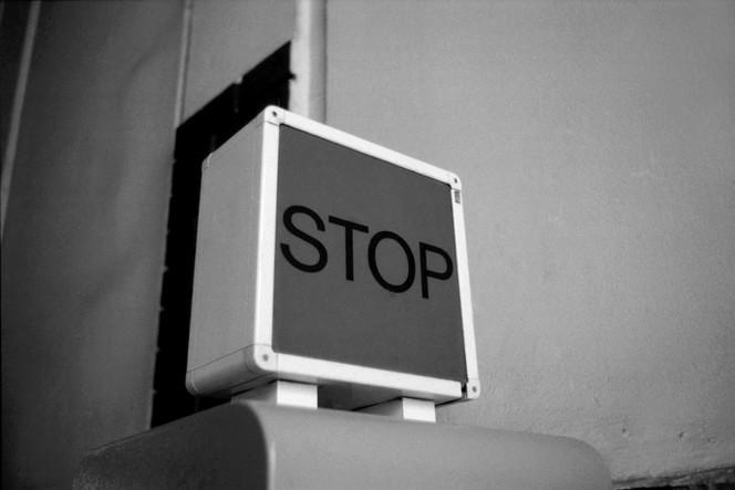 Fotografie, Schwarz weiß, Stop