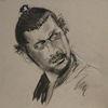 Portrait, Graues papier, Japaner, Zeichnungen