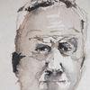 Portrait, Mann, Alt, Aquarell