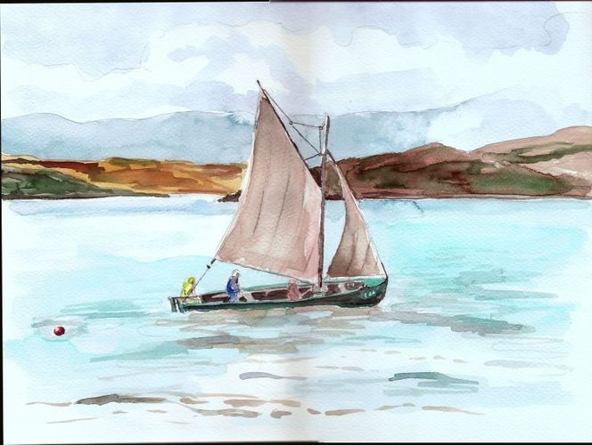 Baltimore segler irland, Aquarell, Segler, Irland