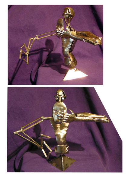Menschen, Roboter, Kunsthandwerk, Metall