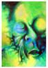 Grün, Malerei, Gesicht, Portrait