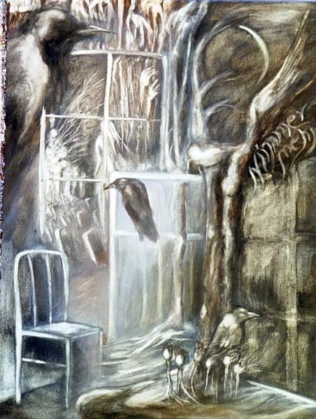 Malerei, Fantastisch, Phantastische malerei, Rabe