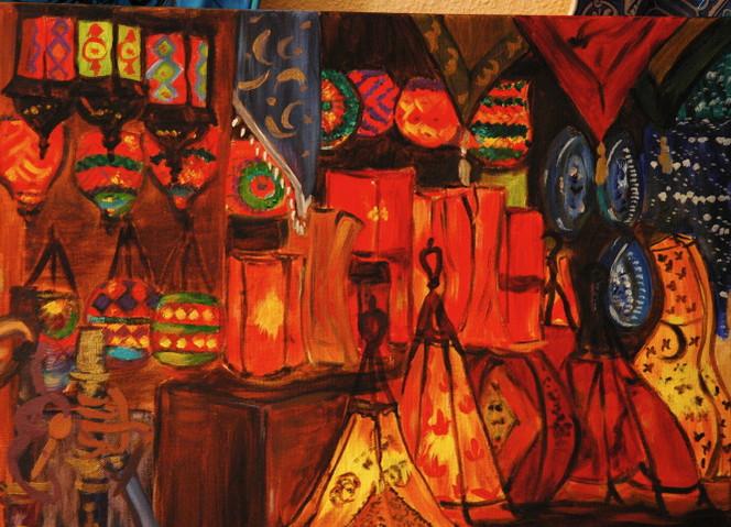 Istanbul, Orange, Licht, Rot, Lampe, Basar