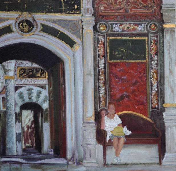 Hof, Palast, Istanbul, Malerei,