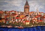 Istanbul, Malerei, Horn, Blick