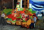Istanbul, Decken, Blau, Fischmarkt