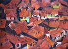 Häuser, Dach, Stadt, Malerei