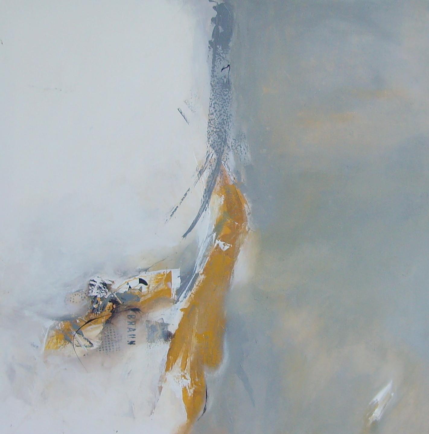 Abstraktes Grau-Gelb - Bild / Kunst von Martina bei KunstNet