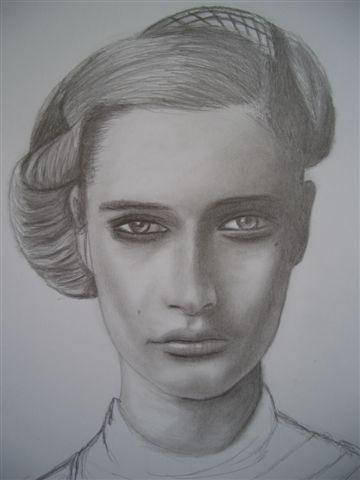 Mund, Cool, Augen, Zeichnung, Strenge, Frau