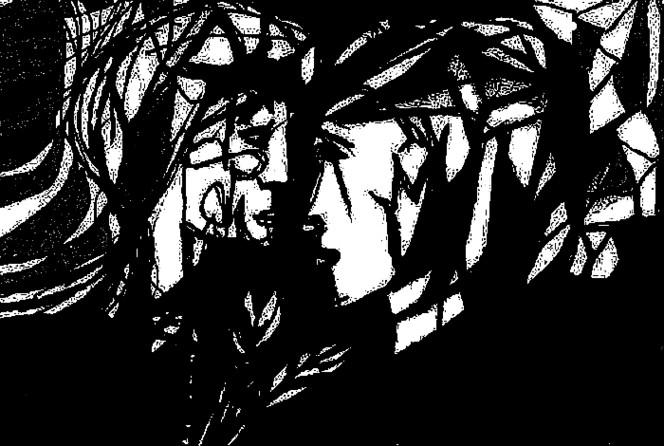 Lyrik, Schwarz weiß, Zeichnungen, Surreal, Profil