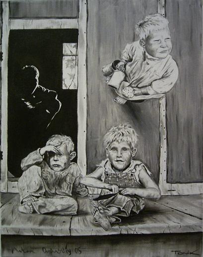 Malerei, Figural, Menschen, Kinder