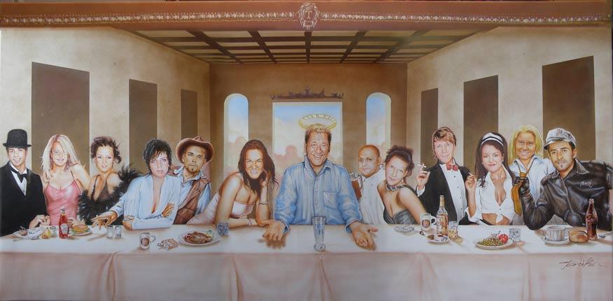 Bild: Kunsthandwerk, Abendmahl von Tonik bei KunstNet: https://www.kunstnet.de/werk/68053-letztes-abendmahl