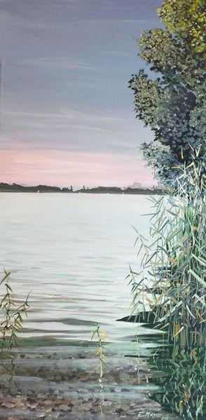 Spiegelung, Allensbach, Bodensee, Wasser, Malerei