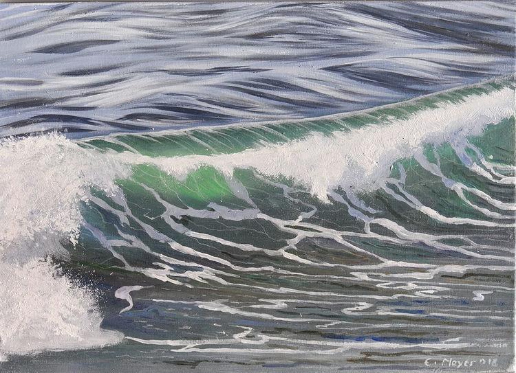 Welle, Sonne, Wasser, Meer, Bewegt, Malerei