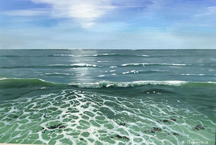 Welle, Wasser, Schaum, Bewegung, Strand, Meer