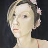 Portrait, Roswitta, Rosenmädchen, Malerei