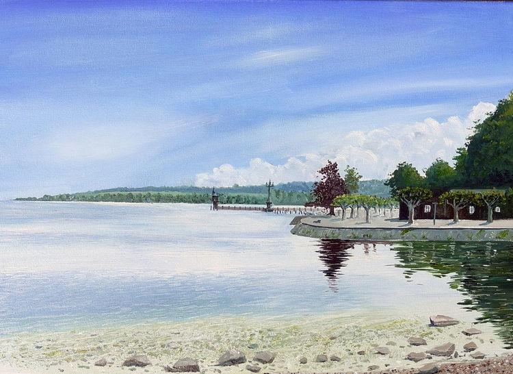 Bodensee, Imperia, Wasser, Konstanz, Sommer, Malerei