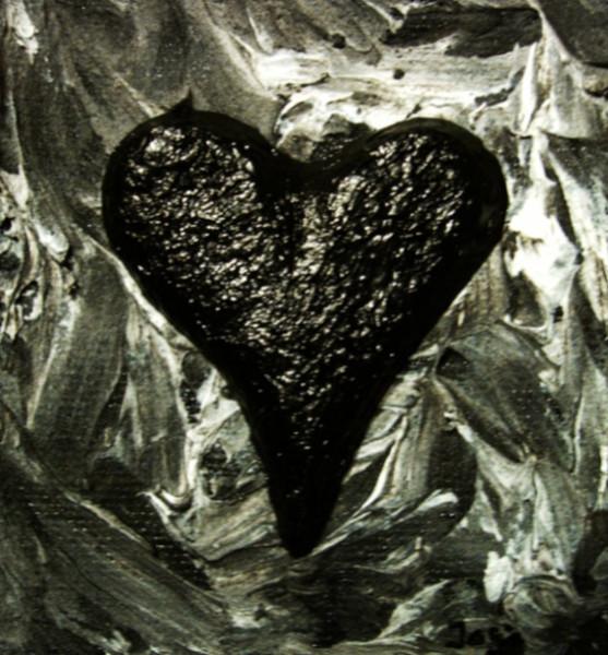 Abstrakt, Seele, Acrylmalerei, Hölle, Herz, Schwarz