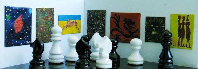 Ausstellung, Figur, Läufer, Schwarz weiß, Pferde, Bauer