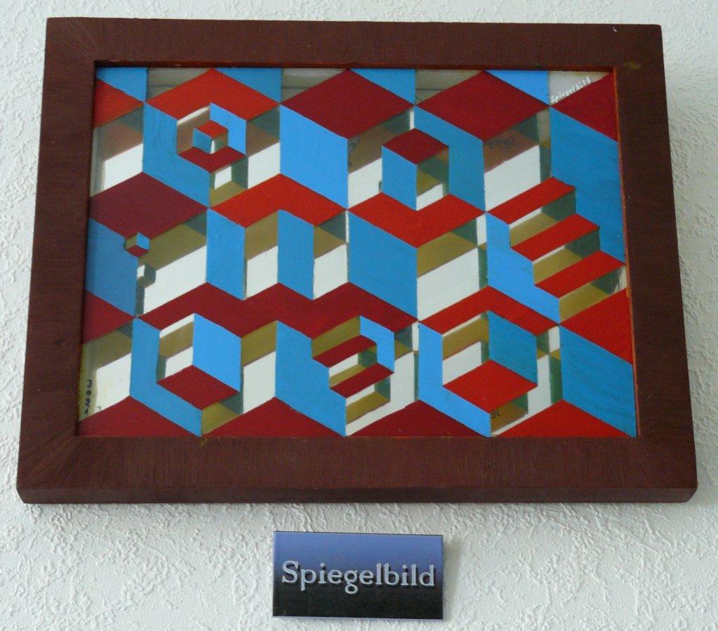 Bild spiegel quadrat lmalerei glas von melancholo bei for Bild spiegel