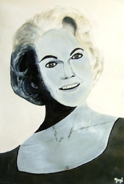 Figural, Munsters, Frau, Schwarz weiß, Portrait, Acrylmalerei