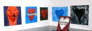 Herz, Rot schwarz, Splatter, Kalt