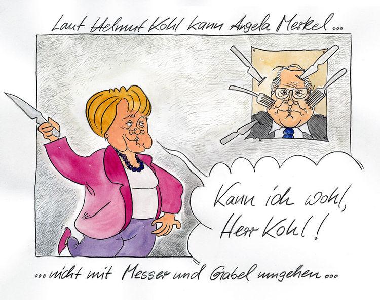 Karikatur, Merken, Cartoon, Kohl, Zeichnungen, Merkel