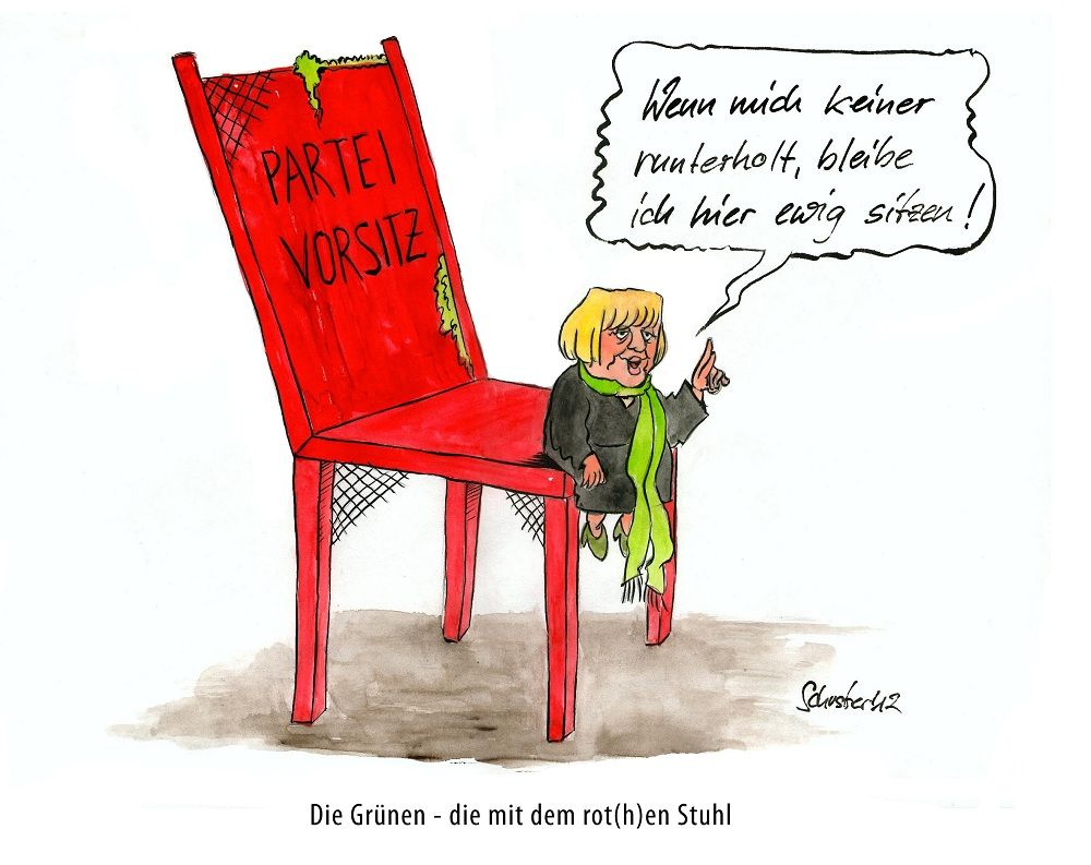 bild karikatur roth gr n politik von mario schuster bei kunstnet. Black Bedroom Furniture Sets. Home Design Ideas
