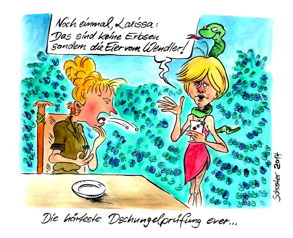 Dschungelcamp Dschungelcamp Karikatur Cartoon