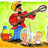 Karikatur, Ramstein, Cartoon, Heino