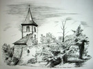 Thüringen, Zeichnung, Kirche, Weida