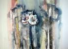 Amaryllis - acryl acrylic acrylmalerei blume blumen malerei