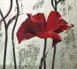 Acrylmalerei, Malerei, Blumen, Mohn