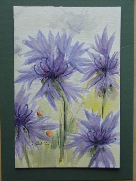 Blüte, Natur, Blumen, Aquarellmalerei, Malerei, Pflanzen