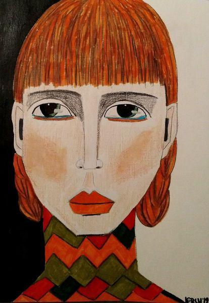 Orange, Grün, Rot, Zeichnungen, Studie