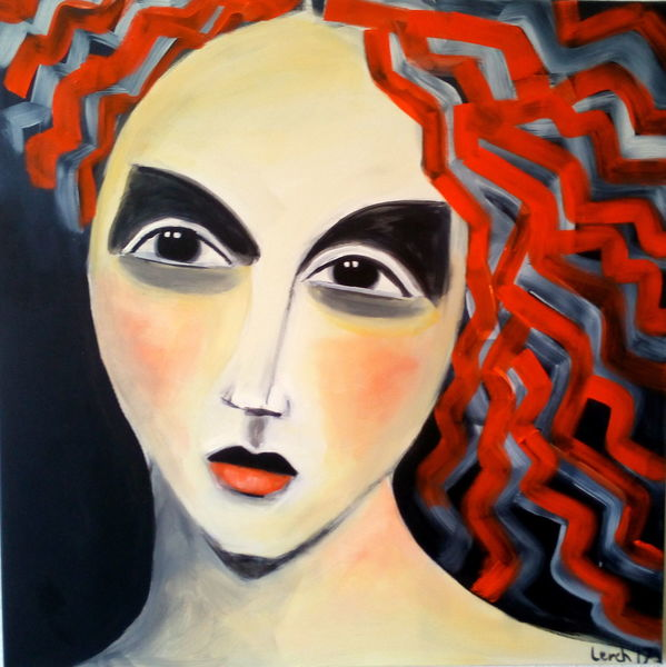Rot, Frau, Geheimnisvoll, Malerei