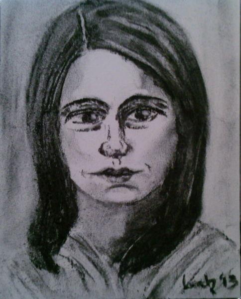 Kohlezeichnung, Zeichnungen, Portrait