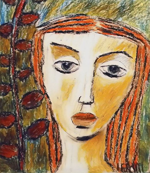 Grün, Pastellmalerei, Rot, Zeichnungen, Leben