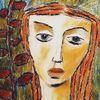 Pastellmalerei, Rot, Grün, Zeichnungen