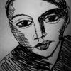 Schwarz, Kuli, Gesicht, Zeichnungen
