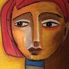 Ocker, Rot, Menschen, Malerei