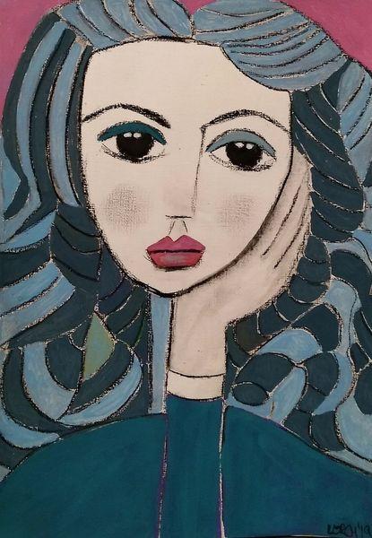 Blau, Türkis, Rosa, Zeichnungen, Picasso, Studie
