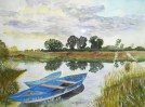 Malerei, Wasser, Aquarellmalerei, Boot