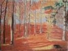 Malerei, Pastellmalerei, Rot, Herbst