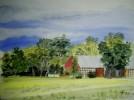 Malerei, Landschaft, Scheune