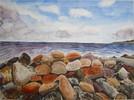 Malerei, Ostsee, Landschaft, Sommer