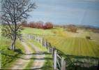 Weg, Ölmalerei, Baum, Landschaft