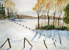 Winter am See - aquarell winter schnee